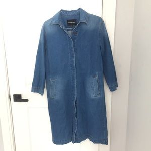 Lon Sleeve Denim Dress